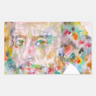 william shakespeare - watercolor portrait.1 sticker