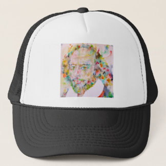 william shakespeare - watercolor portrait.1 trucker hat