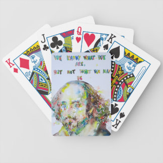 william shakespeare - watercolor portrait.2 bicycle playing cards