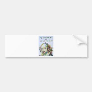 william shakespeare - watercolor portrait.2 bumper sticker