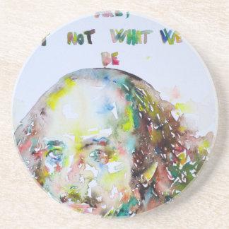 william shakespeare - watercolor portrait.2 coaster
