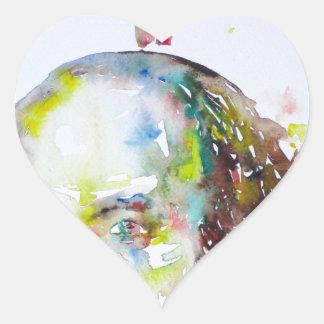 william shakespeare - watercolor portrait.2 heart sticker