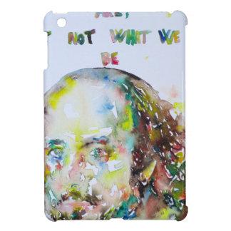 william shakespeare - watercolor portrait.2 iPad mini cases