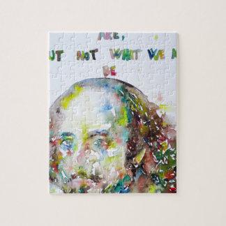 william shakespeare - watercolor portrait.2 jigsaw puzzle