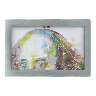 william shakespeare - watercolor portrait.2 rectangular belt buckle