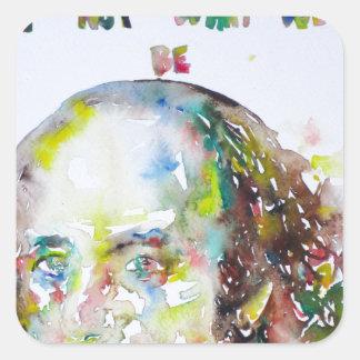 william shakespeare - watercolor portrait.2 square sticker