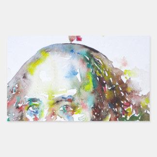 william shakespeare - watercolor portrait.2 sticker