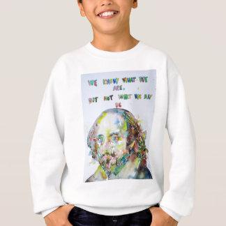 william shakespeare - watercolor portrait.2 sweatshirt