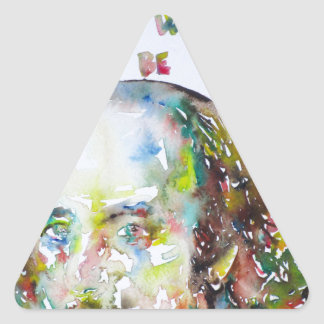 william shakespeare - watercolor portrait.2 triangle sticker