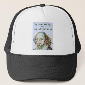 william shakespeare - watercolor portrait.2 trucker hat
