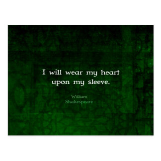 William Shakespeare Whimsical LOVE Quote Postcard