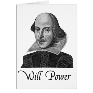 William Shakespeare Will Power Card