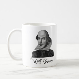 William Shakespeare Will Power Coffee Mug