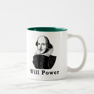 William Shakespeare WILL POWER Tshirts Two-Tone Coffee Mug