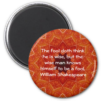 William Shakespeare Wisdom Quotation Saying Magnet