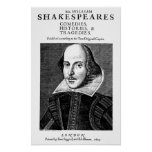 William Shakespeare's First Works Poster