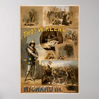 William Shakespeare's Richard III Advertising Poster
