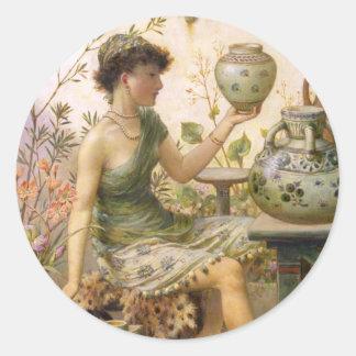 William Stephen Coleman: The Potter's Daughter Round Sticker