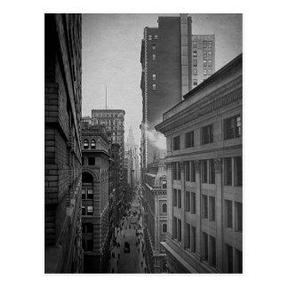 William Street North From Exchange Place New York Postcard