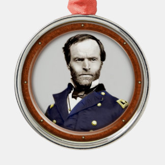 William Tecumseh Sherman Metal Ornament
