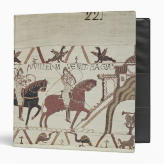 William the Conqueror  arrives at Bayeux Vinyl Binder