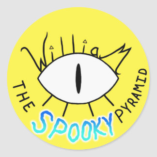 """William the SPOOKY Pyramid"" sticker"
