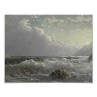 William Trost Richards (1833-1905) , Off the Coast Poster