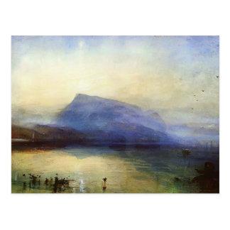 William Turner- Blue Rigi Lake of Lucerne Sunrise Postcard