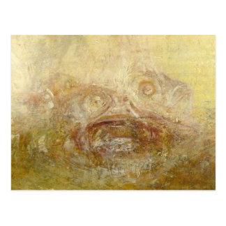 william turner - sunrise with sea monsters (detail postcard