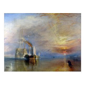 William Turner: Temeraire tugged to last berth Postcard