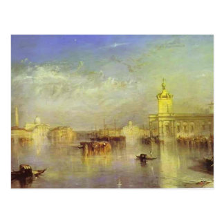 William Turner- The Dogana, San Giorgio, Citella Postcard