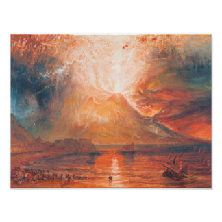 William Turner Vesuvius in Eruption waterscape art Poster