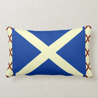 William Wallace Tartan Scottish Saltire Flag Lumbar Pillow