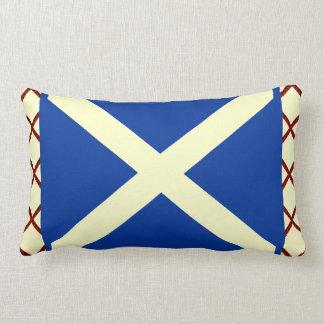 William Wallace Tartan Scottish Saltire Flag Lumbar Pillow