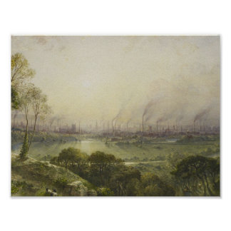 William Wyld (1806-89) Manchester from Kersal Moor Poster