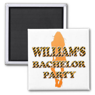 William's Bachelor Party Square Magnet
