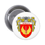 Williams Coat of Arms (Mantled) 2 Inch Round Button