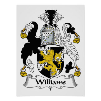 Williams Family Crest Poster
