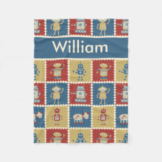 William's Personalized Robot Blanket