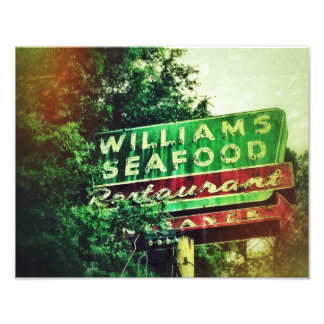 Williams Seafood Sign Photograph