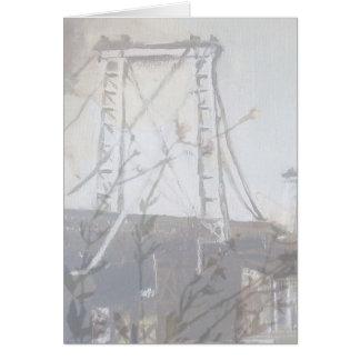 Williamsburg Bridge Brooklyn Poppie Giftcard Card