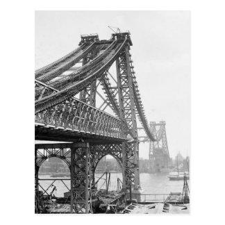 Williamsburg Bridge Construction, 1901 Postcard