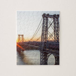 Williamsburg Bridge Sunset Brooklyn NYC Jigsaw Puzzle