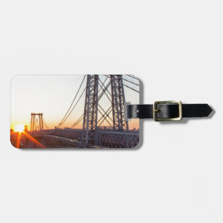 Williamsburg Bridge Sunset Brooklyn NYC Luggage Tag