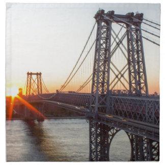 Williamsburg Bridge Sunset Brooklyn NYC Napkin