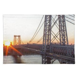Williamsburg Bridge Sunset Brooklyn NYC Placemat