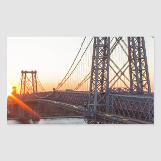 Williamsburg Bridge Sunset Brooklyn NYC Sticker