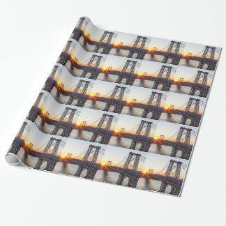 Williamsburg Bridge Sunset Brooklyn NYC Wrapping Paper