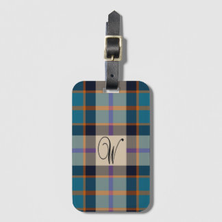 Williamson ancient tartan luggage tag