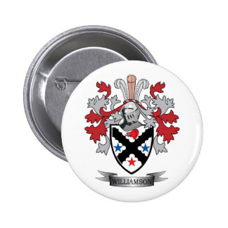 Williamson Family Crest Coat of Arms 2 Inch Round Button